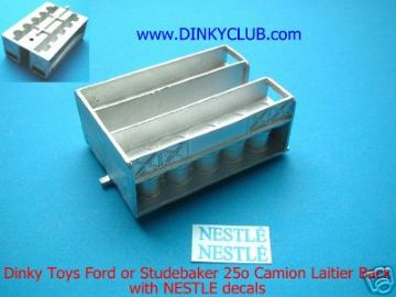 French Dinky Toys 25O Dinky Ford or Studebaker NESTLE Milk replacement back